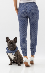 Oscar & Ethel | Dudley Blue And White Pants