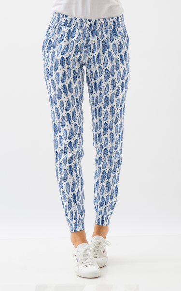 Oscar & Ethel | Ethel Blue And White Pants