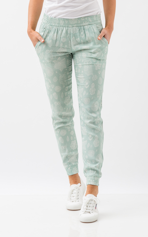 Oscar & Ethel | Jessie Green And White Pants