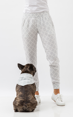 Oscar & Ethel | Pitch Grey And White Pants And Scarf