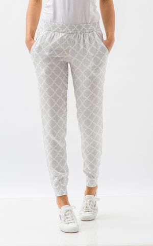 Oscar & Ethel | Pitch Grey And White Pants