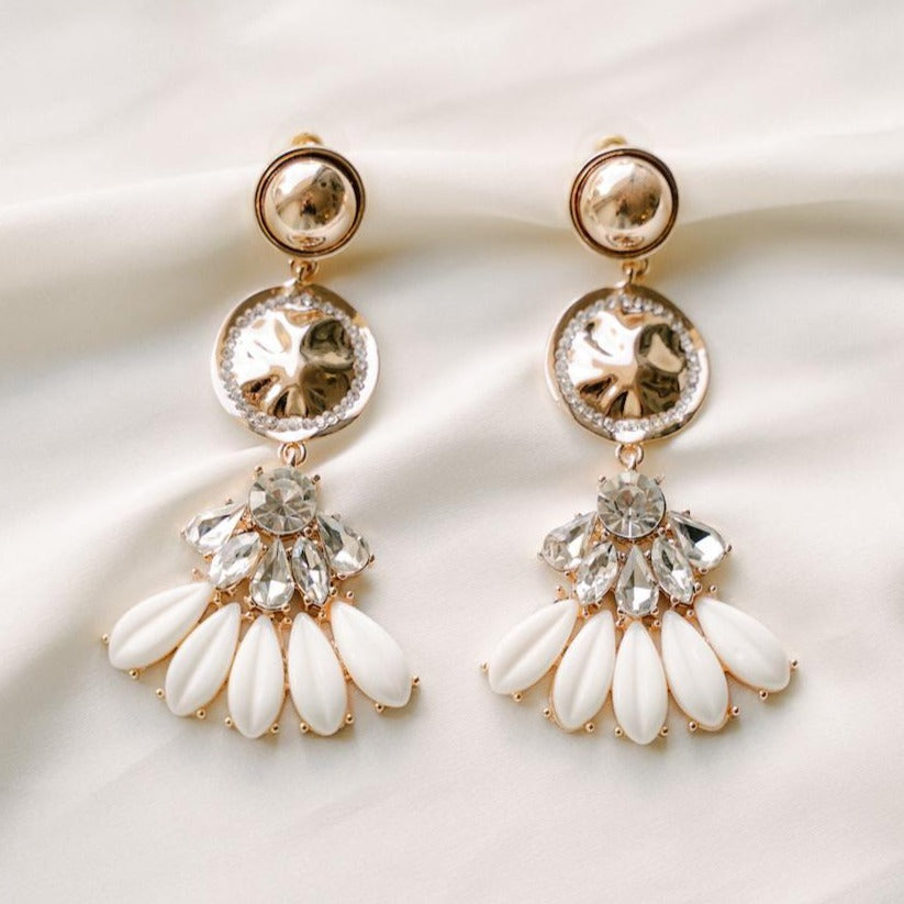 Gold Delilah Earrings | ASHLEE LAUREN