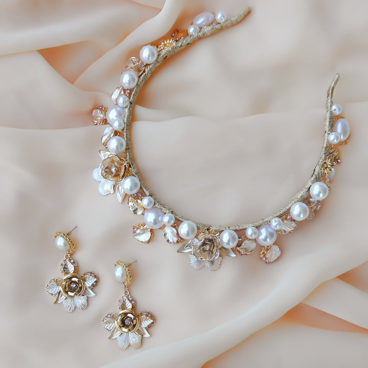Embellished Pearl Sofia Crown | ASHLEE LAUREN