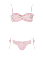 Load image into Gallery viewer, 3 Ruffles Bandeaux - Pink