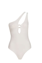 Load image into Gallery viewer, Capri White One Shoulder Swimsuit