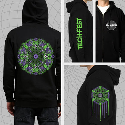 Demonic Zip Up Hoodies
