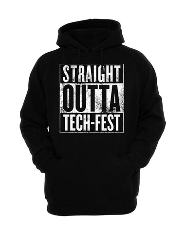 Straight Outta Tech-Fest Pullover Hoodies