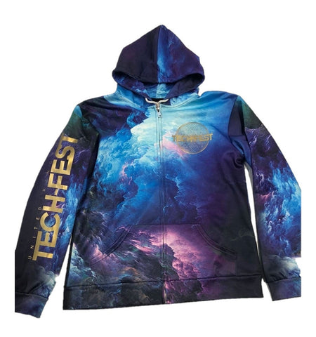 3D Galaxy Zip-Up