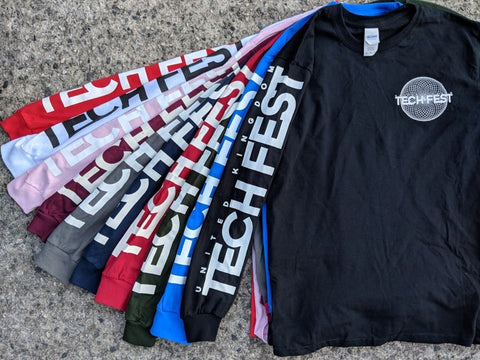 Long Sleeve Tech-Fest Logo T-shirt