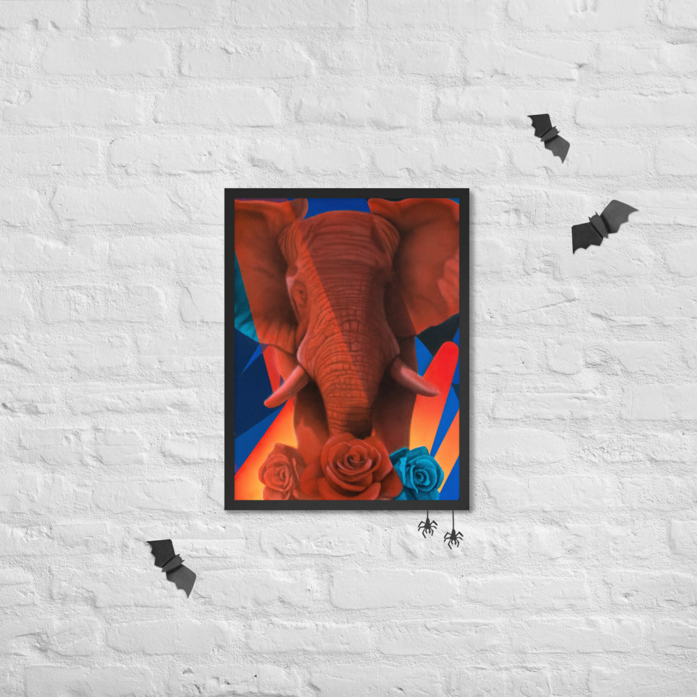 Elephant Framed poster - Freshiconic art, artists products, printed art, canvas, marcel art