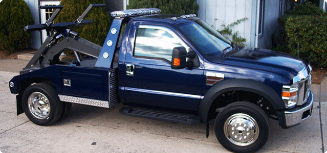 Tow truck with Pacific Dualies Wheel simulators