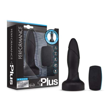 Performance Plus - Drive - Rimming Wireless Remote Control Rechargeable Butt Plug - Black