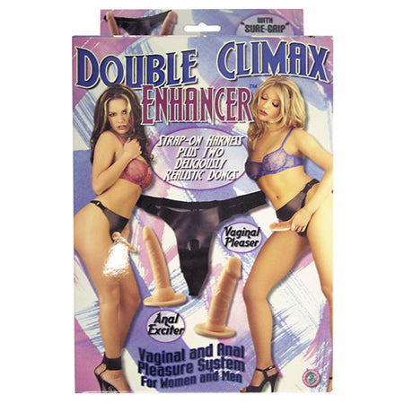 Double Climax Enhancer Strap On Harness & 2 Dongs