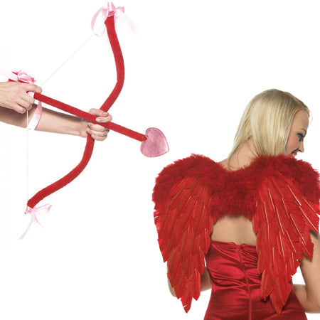Cupid Kit - includes bow, arrow and wings O-S Red