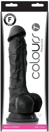 Colours Pleasures 7in Dildo Black