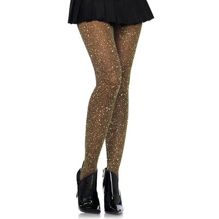 Lurex tights O-S BLACK-GOLD