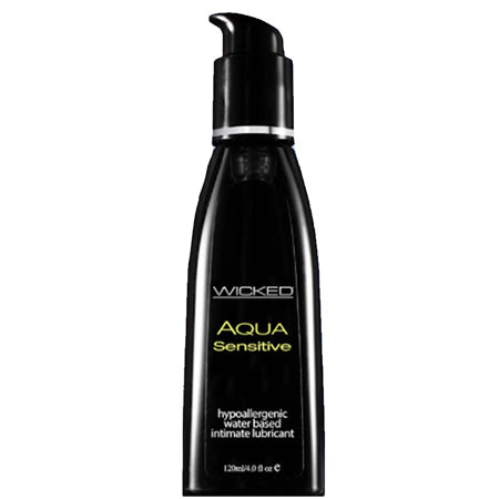 Wicked Aqua Sensitive Waterbased Hypoallergenic Unscented Lube 8oz