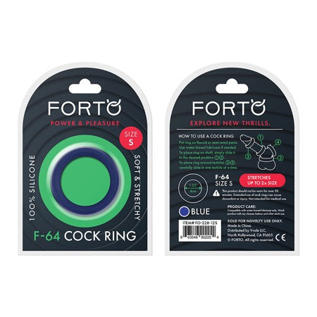 Forto F-64:  40Mm 100% Silicone Ring Wide Sm Blue