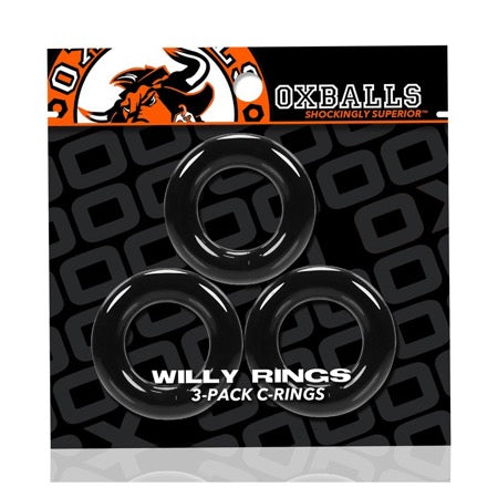 Oxballs Willy Rings 3-Pack Cockrings O-S Black