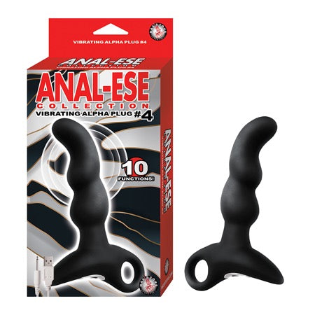 Anal-Ese Collection Vibrating Alpha Plug #4 - Black
