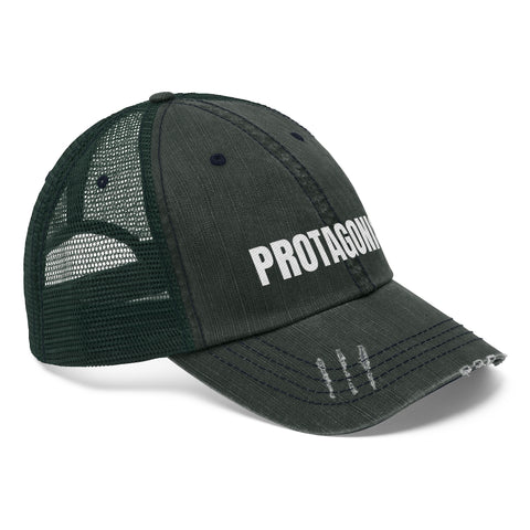 PROTAGONIST (LETTERING ONLY) Unisex Trucker Hat