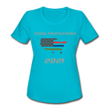 TEAM PROTECTORS Women's Moisture Wicking Performance T-Shirt - turquoise