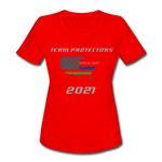 TEAM PROTECTORS Women's Moisture Wicking Performance T-Shirt - red