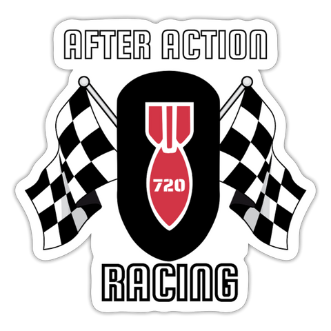 AAR RACING Sticker - white matte