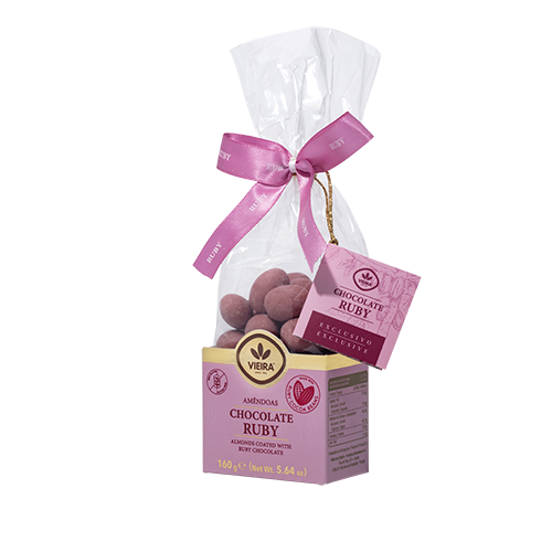 Amêndoas Premium Chocolate Ruby 160G Lateral