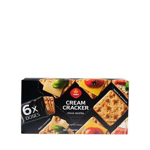 Bolachas Cream Cracker Doses 180g Lateral