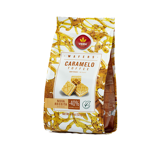 Wafers Caramelo 125G Lateral