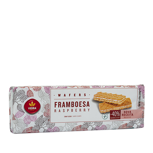 Wafers Framboesa 150G Lateral