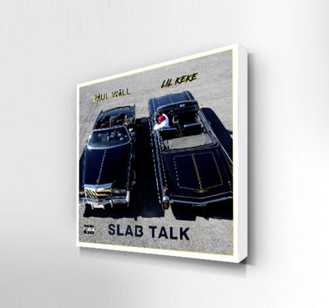 OilerMobb Slab Talk album cover canvas print