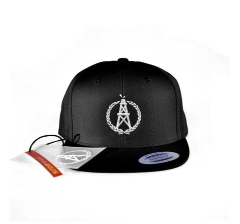 OilerMobb Black Snap Back Hat