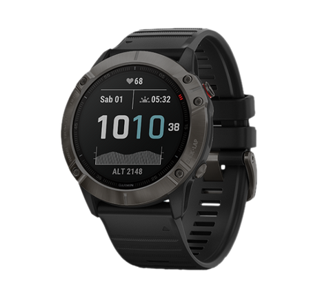 GARMIN FENIX 6X - CARBON GRAY DLC BLACK