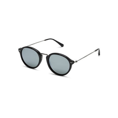 KAPTEN & SON SUNGLASS - MAUI BLACK SILVER GREY MIRRORED - KSS4251145232177