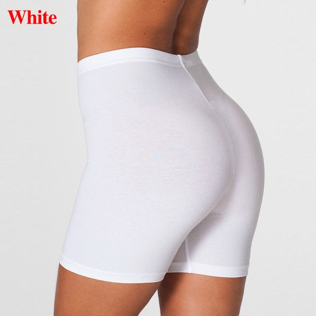 Elastic Casual High Waist Shorts