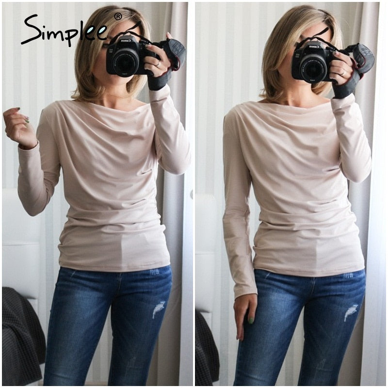 Casual One Shoulder Top