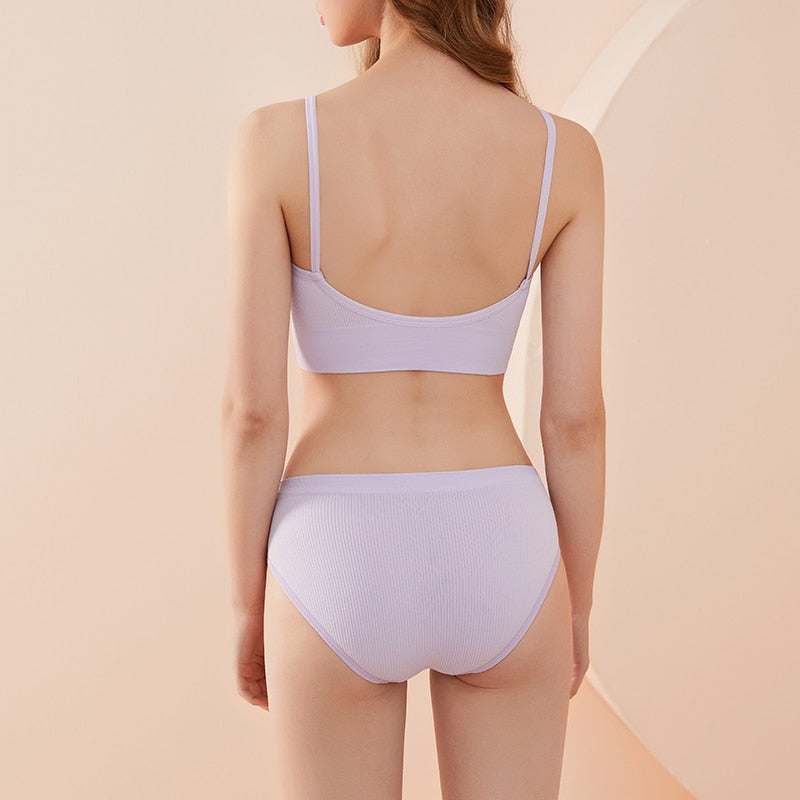 Seamless Bra and Thong Set