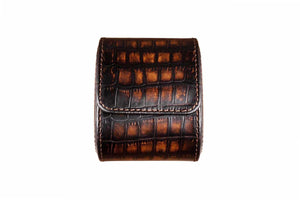 "Watch Roll ""Croco Patina Brown"""