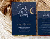 Cassiopeia Wedding Invitation Set | Moon + Stars
