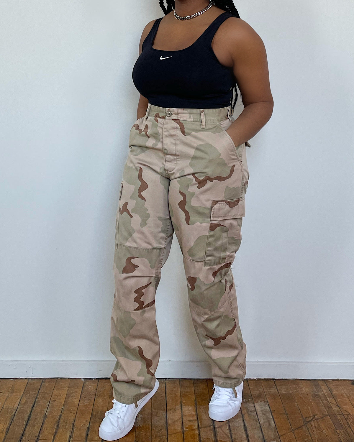 Vintage 90s Camo Army Pants (L/XL)