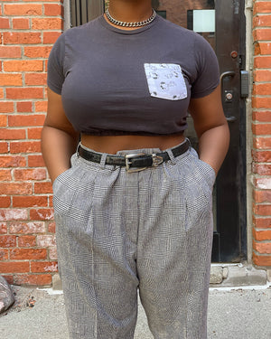 Vintage Re-Worked Snoopy Crop Top (XS/S)