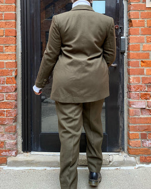 Vintage Wool Green Suit (9/10)
