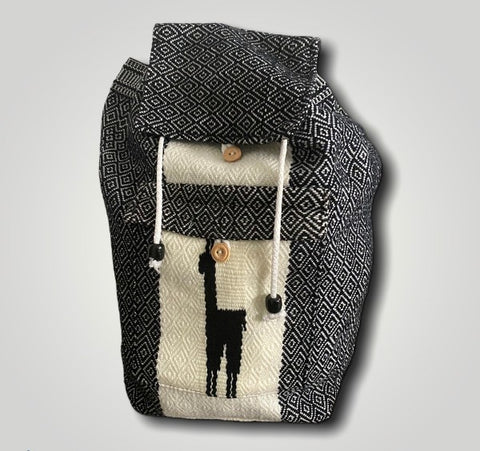 Peruvian Wool Backpack w/ Llama Pocket