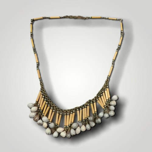 Bamboo Necklace With Seeds
