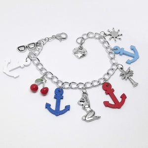 Pulsera pin up anclas