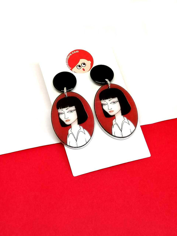 Pendientes Mia Wallace de Pulp Fiction