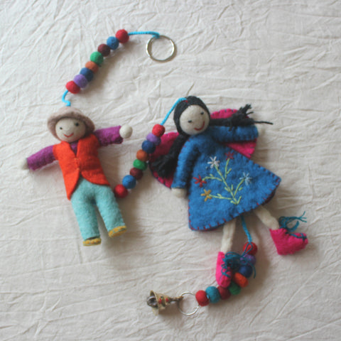 Felt Girl & Boy Hanging