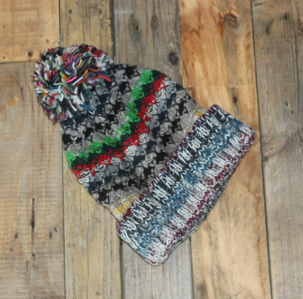 Multicolour Beanie - Bobble - 1